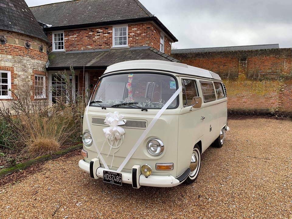 Camper Van Wedding Car in Hampshire, Wiltshire and Dorset
