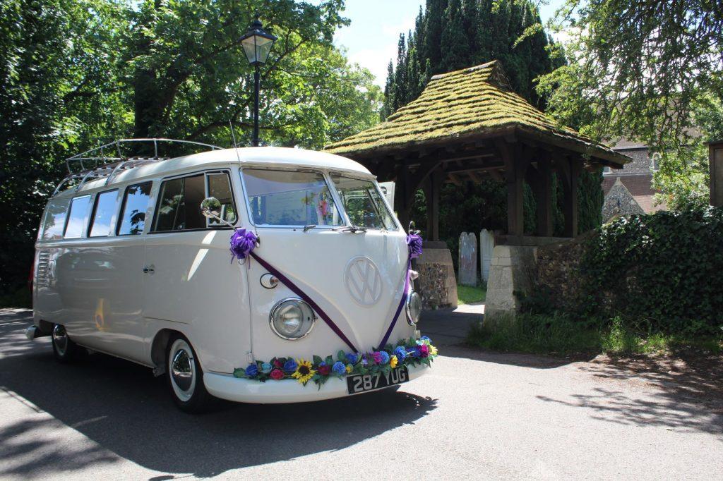 cream camper van