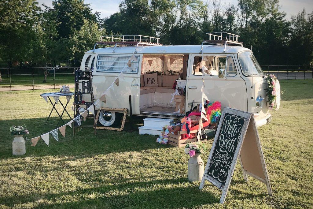 Festival wedding camper van photobooth