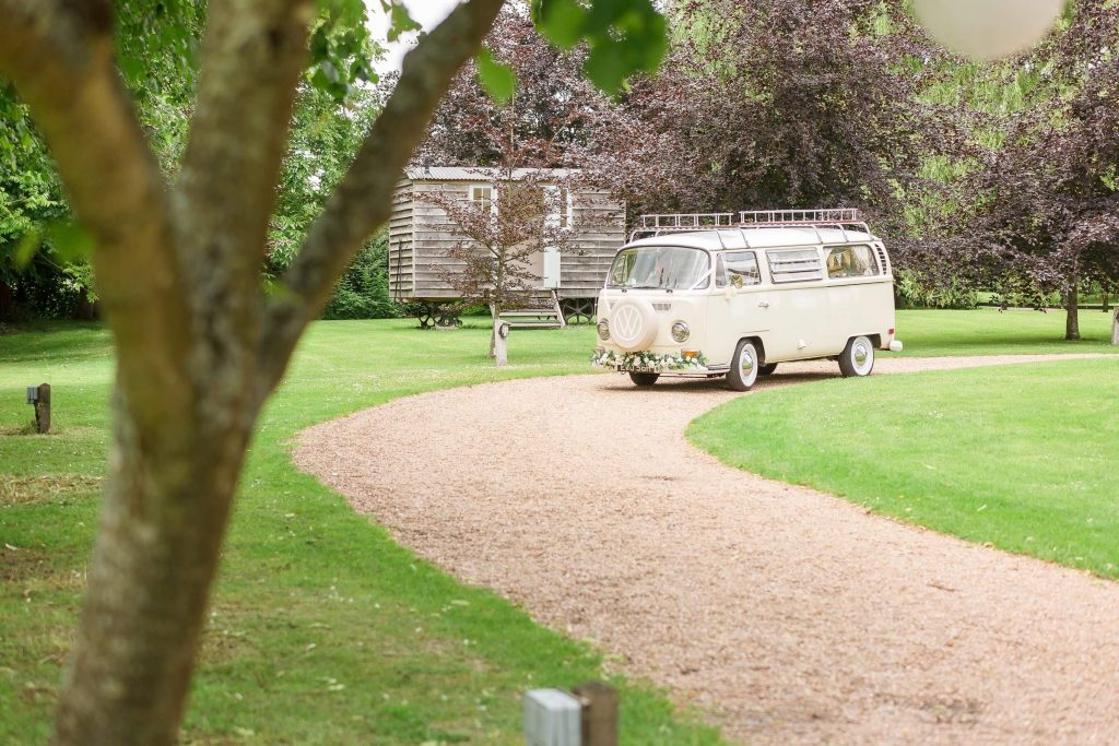 Wedding Car at Tithe Barn